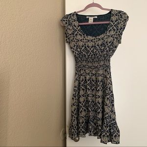 American Rag Short Sleeve Paisley Dress